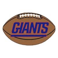 NFL New York Giants Football Shaped Mat Area Rug