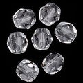 Acrylic Faceted Round Beads Clear 6mm (72) - Thumbnail 0