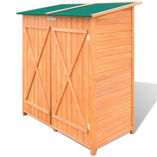 vidaXL Wooden Shed Garden Tool Storage Room Large