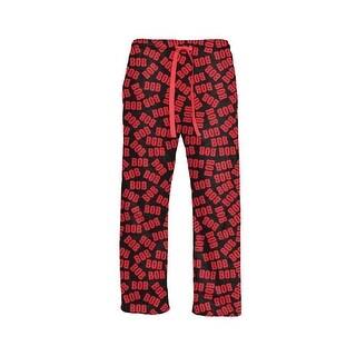 Men's Black and Red Bob Lounge Pants