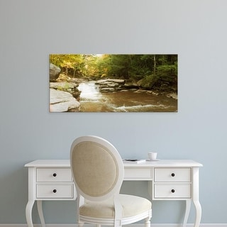 Easy Art Prints Panoramic Image 'Kaaterskill Falls stream through forest of Catskill Mountains, New York' Canvas Art