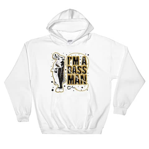 I'm a Bass Man Pullover Pocket Hoodie