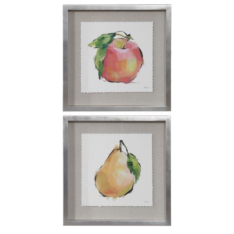Uttermost Designer Fruits Framed Prints (Set of 2)