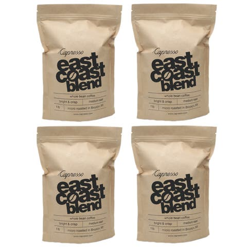 Capresso East Coast Blend Whole Bean Coffee (Espresso Roast 4 Pack)