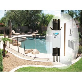 4 X 12 - Feet Pool Fence, by Pool fence DIY (Option: Brown)