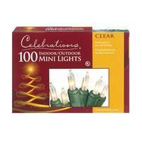 Celebrations 4000-71 Mini Light Set, 22.5', 100 Clear Lights