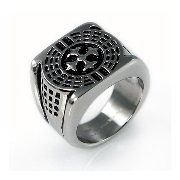 Stainless Steel Men's Legion Cross Ring