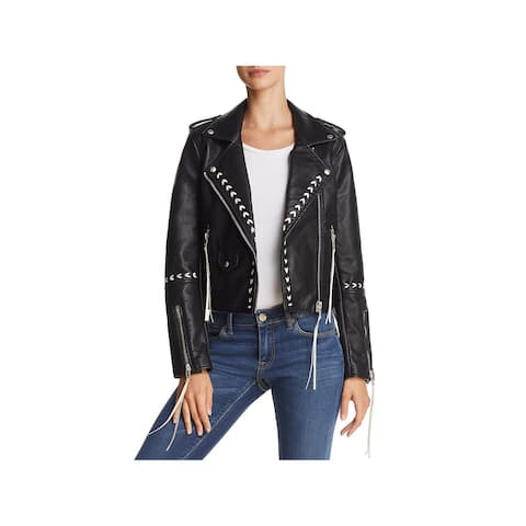 [BLANKNYC] Womens Motorcycle Jacket Faux Leather Laced - Second Chances - S