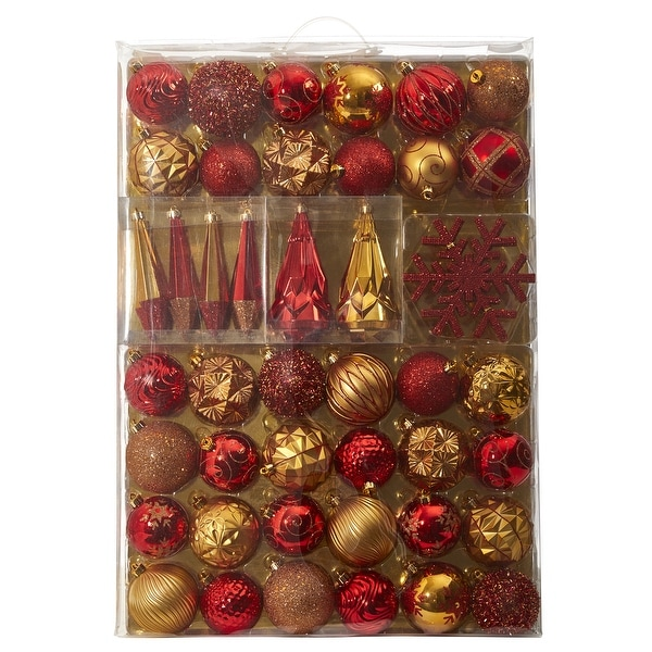 Holiday Shatterproof, 52 Count Christmas Ornament Box, 80mm to 150mm. Opens flyout.