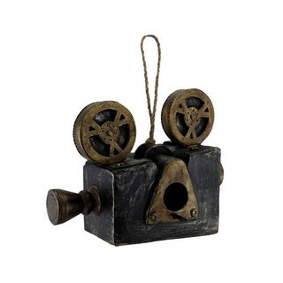 Antique Movie Projector Shaped Hanging Birdhouse