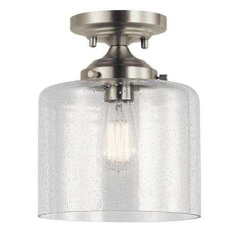 The Gray Barn Saffron 1-light Brushed Nickel Semi-flush Mount - Brushed nickel - Brushed nickel