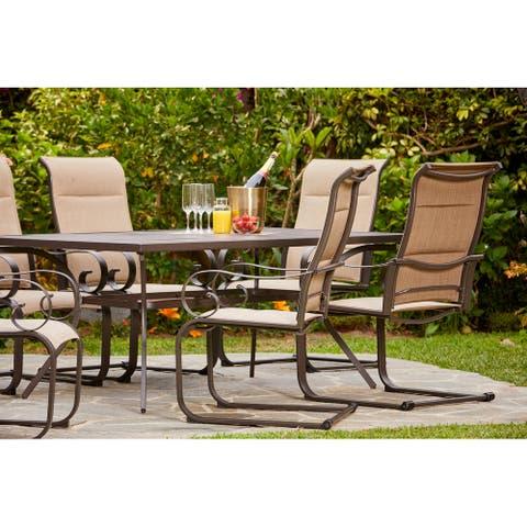 Royal Garden - Patio Dining Set - 7-Piece - Mountain View - Tan