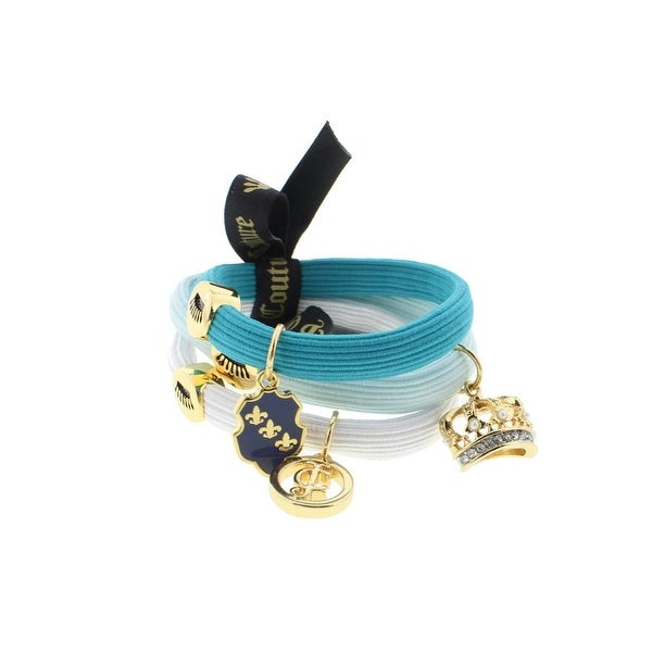 Juicy Couture Black Label Womens Ponytail Holder 3PC Charmy