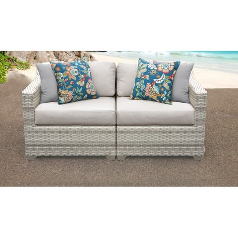Fairmont 2 Piece Outdoor Wicker Patio Furniture Set 02a