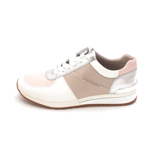 02f534a83510 Michael Kors Womens Allie Wrap Trainer Leather Low Top Lace Up Fashion  Sneakers