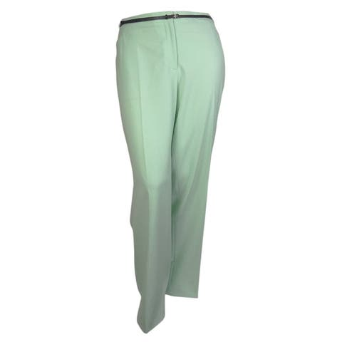 Calvin Klein Women's Belted Straight Pocketed Modern Pant