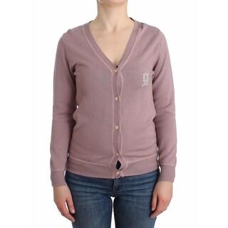 Galliano Galliano Purple v-neck wool cardigan