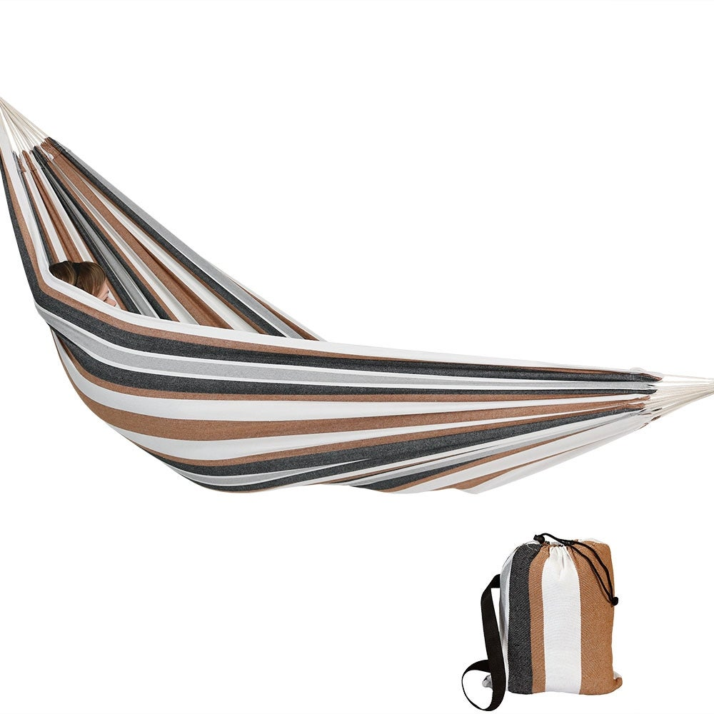 Calming Desert Max Weight 400 Pounds Sunnydaze Extra Large Brazilian Double Hammock with Stand and Carry Bag