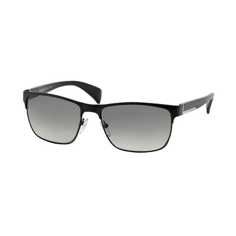 Prada PR 51OS FAD3M1 58 Matte Black/black Man Rectangle Sunglasses