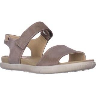 ECCO Damara Flat Comfort Sandals, Birch
