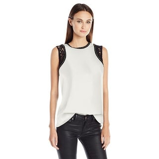 Calvin Klein Sleeveless Embellished Top Blouse - l