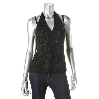 Polo Ralph Lauren Womens Dress Top T-Back Beaded