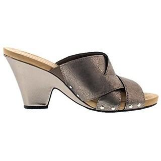 Bandolino Women's Beankka Leather Wedge Sandal