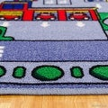 "Allstar Kids / Baby Room Area Rug. City Map. Urban. Streets with Vibrant Colors (7' 3"" x 10' 2"") - Thumbnail 2"