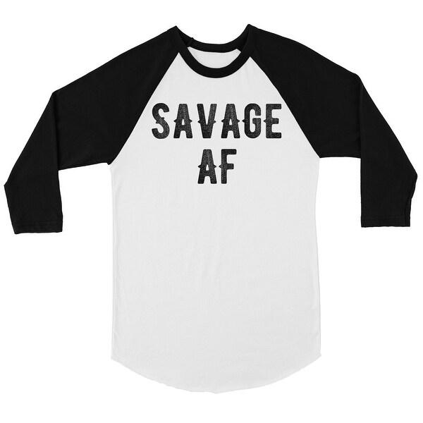 daf431cb Shop 365 Printing Savage AF Womens Baseball Tee Hilarious Gift Funny Raglan  T-Shirt - Free Shipping On Orders Over $45 - Overstock - 28093022