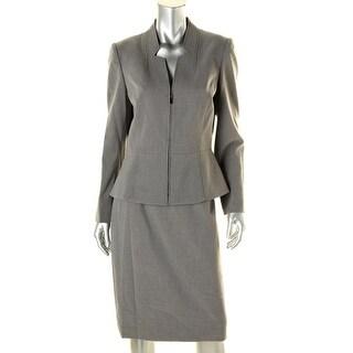 Tahari ASL Womens Ralph Heathered 2PC Skirt Suit - 8