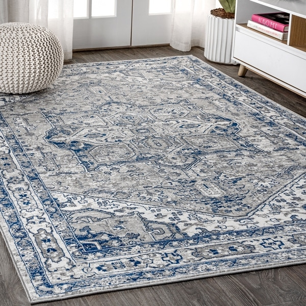 JONATHAN Y Modern Persian Vintage Medallion Distressed Area Rug. Opens flyout.