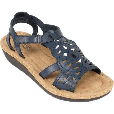 Cliffs by White Mountain Women's Chambray Navy Burnished Smooth