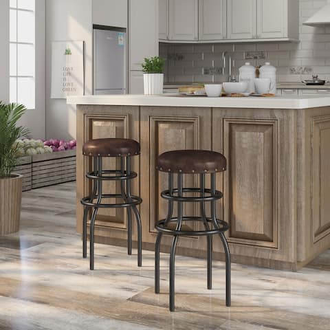 Furniture of America Vigo Rustic Bronze Counter Height Barstool