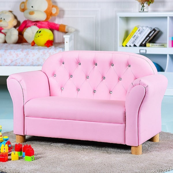 Shop Gymax Kids Sofa Princess Armrest Chair Lounge Couch Loveseat