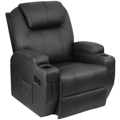 Homall Massage Recliner Chair Swivel Heating Leather Living Room Sofa