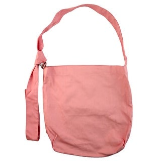 Travel Sundries Storage Ring Decor Messenger Shoulder Canvas Tote Bag Pink