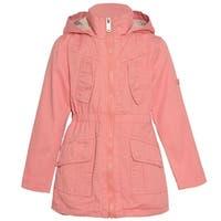 Urban Republic Little Girls Pink Full Zipper Closure Pockets Hooded Coat