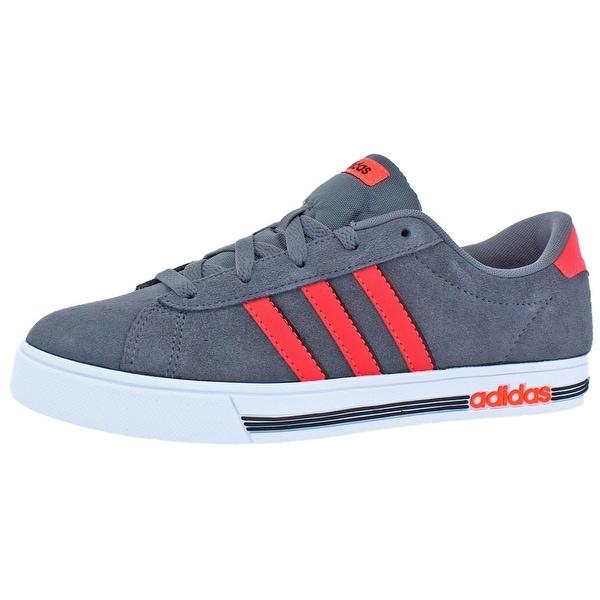 adidas NEO Boys Daily Team K Skate Shoes Big Kid FPerfmo - Grey/Solar Red/Core Black