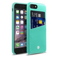 CobblePro Turquoise Leather with Wallet Flap Pouch For Apple iPhone 7
