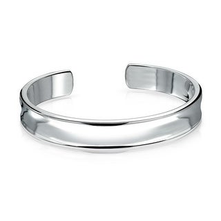 Bling Jewelry Polished Concave Medium Cuff Bangle Bracelet Stainless Steel