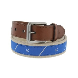 Polo Ralph Lauren Mens Casual Belt Anchor Satin Trim - 38