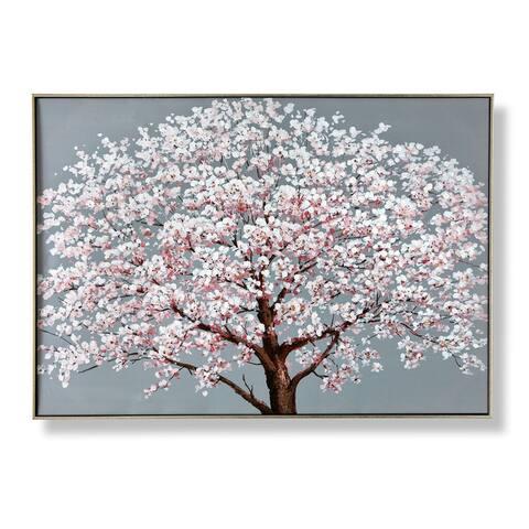 Cherry Blossoms Framed Canvas Wall Art
