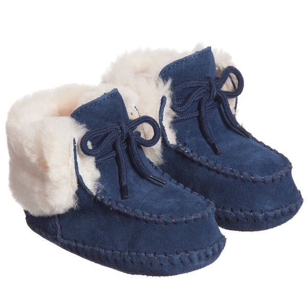 8170e52ccf8 UGG Australia Girls I Sparrow Suede Ankle Slip On Snow Boots - 4-5 ...