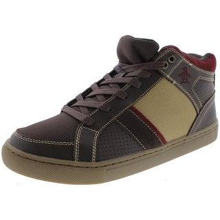 Original Penguin Mens Spector Fashion Sneakers Leather Lace Up - 8 medium (d)