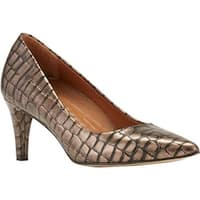 Walking Cradles Women's Sophia Pump Pewter Brushed Crocco Print