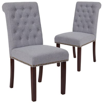 """2 Pk. Parsons Chair with Rolled Back, Nail Head Trim - 18.5""""W x 27.5""""D x 39.75""""H"""