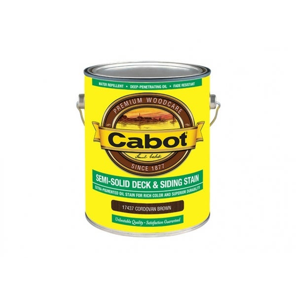 Shop Cabot 07 Semi Solid Deck & Siding Stain Cordovan Brown