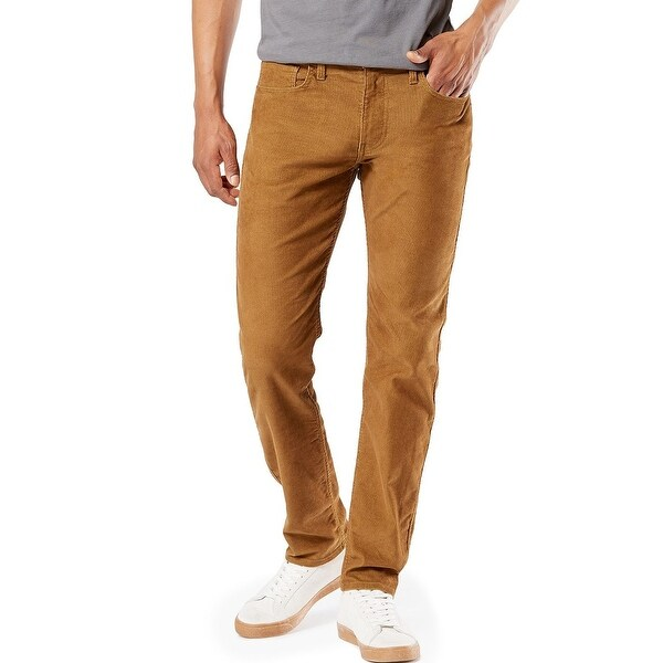 Dockers Mens Pants Almond Brown Size 38x30 Corduroy Slim Fit Stretch. Opens flyout.