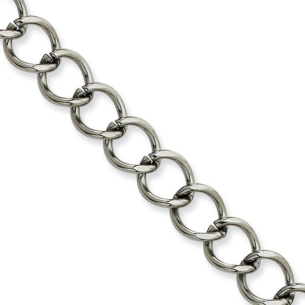 Chisel Stainless Steel 8mm Curb Chain - 22 Inches (8 mm) - 22 in
