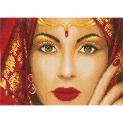 """11""""X8"""" 27 Count - LanArte Oriental Beauty On Cotton Counted Cross Stitch Kit"""